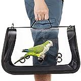 Transporteur d'oiseaux léger, sac à main respirant transparent de perroquet de cage de voyage d'oiseau de...