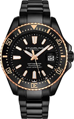 Stuhrling Original Black Mens Dive Watch