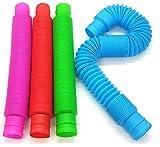 BunMo Pop Tubes Sensory Toys - OT's Choice for Fine Motor Skills Toys and Fidget Toys for Sensory Kids