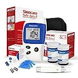 sinocare Medidor De Glucosa En Sangre tiras/Diabetes StripsTiras de diabetes/tiras de prueba de glucosa en sangre sin código x 50 diabéticos (para Safe-Accu 2). (Safe Accu2 50 kit)