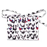 Multi-pocket Chicken Egg Gathering Collecting Apron, Rooster Print Chicken Farm Unique Design (Teenagers)