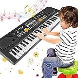 WOSTOO Piano Keyboard 49 Key, Portable Electronic Kids Keyboard Piano Educational Toy, Digital Music Piano Keyboard with Microphone for Kids Girls Boys
