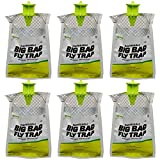 RESCUE! Big Bag Fly Trap – Large Capacity Disposable Outdoor Hanging Fly Trap - 6 Pack