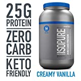 Isopure Zero Carb, Keto Friendly Protein Powder, 100% Whey Protein Isolate, Flavor: Creamy Vanilla, 3 Pounds (Packaging May Vary)