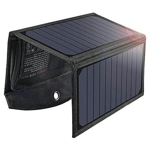 Caricabatterie a Pannelli Solari da 19W con Doppia...