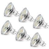 Ampoule LED MR16 Wowatt Ampoule GU5.3 12V Blanc Chaud 2800K 6W Equivalent...