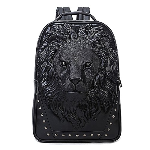 """51qh9zaP2bL Sturdy PU leather backpack Size:12.2""""L x 4.7""""W x 18.1""""H Main compartment and 1 inner computer holder and 2 inner pockets for most your necessities"""