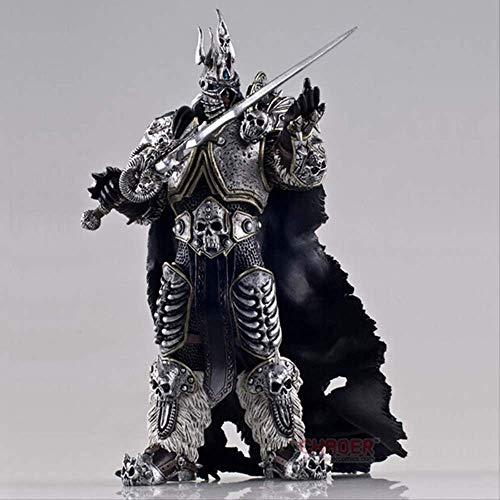 N 17cm Spielfilm Anime Figur Wow Fall des Lichkönigs Arthas Menethil Figur Actionfigur...