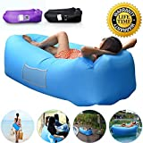 Anglink Outdoor Inflatable Lounger Couch, Thick Durable Comfortable, Air Sofa Blow Up Lounge Sofa with Carrying Bag for Travelling, Camping, Hiking, Park, Pool and Beach Parties