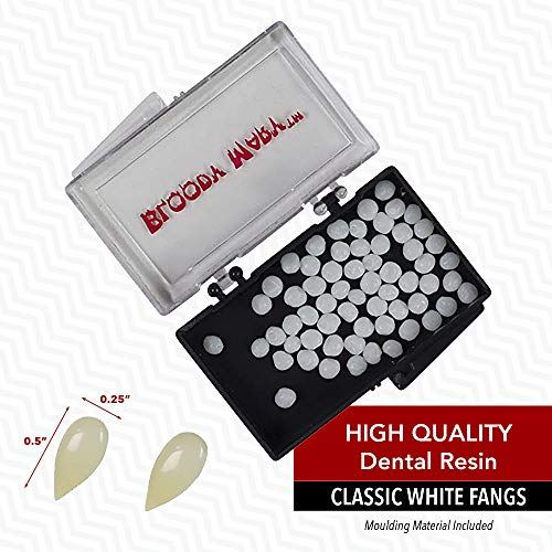 Bloody Mary Vampire Teeth/Fangs for Halloween & Theatrical Performances (Classic White Fangs)