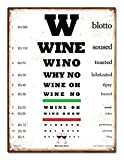 Wine Eye Chart Steel Sign LARGE 12 x16 . FUNNY GIFT! Put a Huge smile on their face with this hilarious wine lovers gift for him or her! Home Bar Decor, Kitchen, Wine Cellar, Man Cave, Birthdays