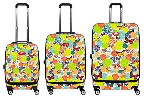 NUKI 3-teiliges Leichtgewichtiges Trolley-Set für vorne zugängliches Gepäck.