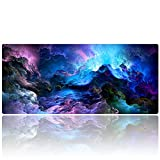 """AliBli Large Gaming Mouse Pad XXL Extended Mat Desk Pad Mousepad Long Non-Slip Rubber Mice Pads Stitched Edges 35.4""""x15.7"""" (014qicaiyun)"""
