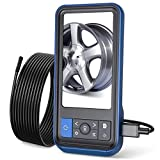 Teslong Inspection Camera, 1080P HD Endoscope Camera MS450 Dual Lens Borescope with 4.5' IPS Screen, 32GB Card, 16.4ft IP67 Waterproof Cable, 6 LED Lights, Travel Case, 8mm Dia, Play and Plug