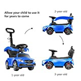 BABLE Mercedes Benz Push Cars for Toddlers- Push Car Stroller for Kids to Ride with Safety Bar Cup Holder, Ride on Toys for 1 to 3 Year Old Boys or Girls, Blue