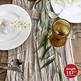 Gauze table runner bulk ivory nude cheesecloth table cloth - Holiday table runner for wedding - Rustic table runner 160 in - Boho chick wedding table cloth - Long table runner for wedding