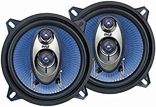"5.25"" Car Sound Speaker (Pair) – Upgraded Blue Poly Injection Cone 3-Way 200 Watt.."