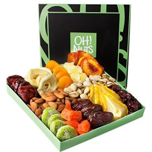 Oh! Nuts Holiday Nut and Dried Fruit Gift Basket for Fathers Day   Great for Christmas, Birthday, Easter Gift Basket or… 47