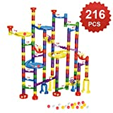 WTOR 216Pcs Marble Run Super Set Toys Marble Maze Game Educational Learning Building Blocks Boys Girls Toy Gift for Kids Children