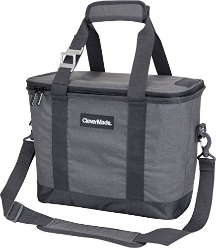 CleverMade Collapsible Cooler Bag with Shoulder Strap:...