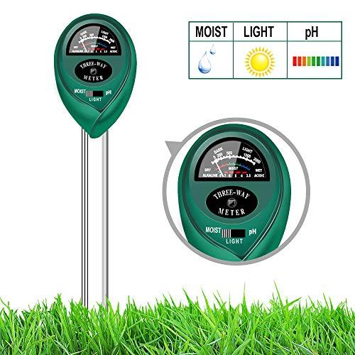 yoyomax Soil Test Kit pH Moisture Meter Plant Water Light...