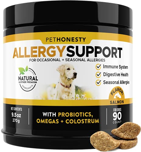 PetHonesty Allergy Support Supplement for Dogs -...