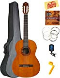 Yamaha C40 Classical Guitar Bundle with Gig Bag, Tuner, Strings, String Winder, Austin Bazaar Instructional DVD, and Polishing Cloth