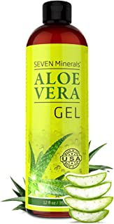 Organic Aloe Vera Gel with 100% Pure Aloe From Freshly Cut Aloe Plant, Not Powder –..