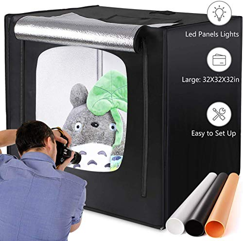 amzdeal Photography Light Box 32in Upgraded Photo...