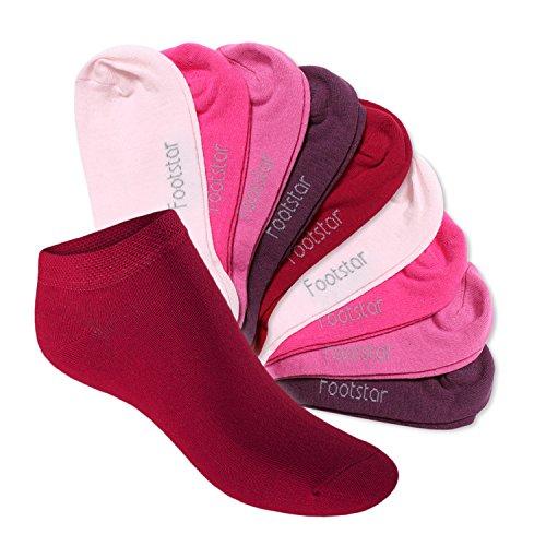 Footstar SNEAK IT! KIDS 10 paia di calze alla caviglia - Calze bambino Berry 31-34