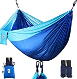 Utopia Home Supreme Nylon Hammock- Supports Up to Two People or 400 LBS - Porch, Backyard, Indoor, Camping - Durable, Ultralight Material for Strength & Comfort with Hanging Straps (Sports)