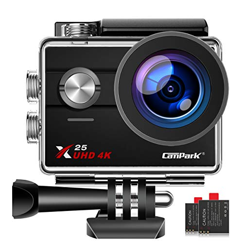 【Lowest Price】 Campark X25 Native 4K WiFi Sports Action Camera Ultra HD Waterproof DV...