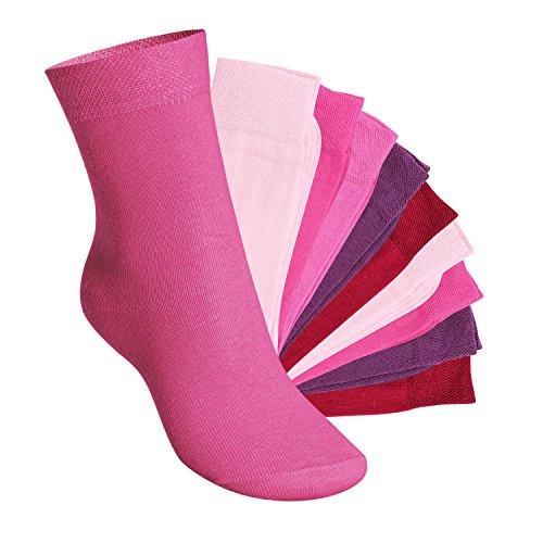 Footstar EVERYDAY! 10 paia di calze per bambini Berry 31-34
