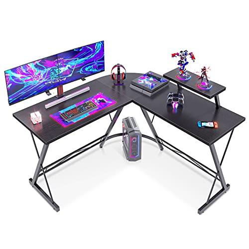 Casaottima L Shaped Desk, 51' Gaming Desk, Computer Desk, L Desk, Home...