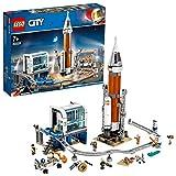 LEGO-City La fusée spatiale et sa station de lancement Enfant 7 Ans et Plus, Jouet de Construction, 837 Pièces 60228