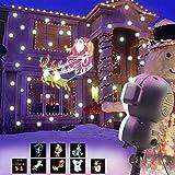 UKEER Projecteur Noel LED exterieur, Musique + Neige+8 Animés Projecteur...