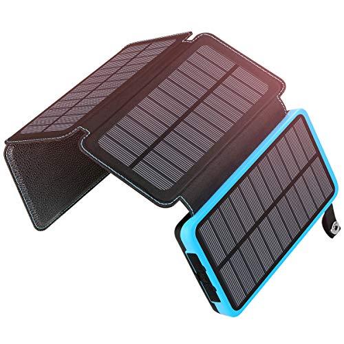 A ADDTOP Chargeur Solaire 25000mAh Power Bank Imperméable Portable Batterie Externe avec 2 USB...