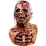 Demi Sharky Scary Walking Mask Dead Prop Creepy Costume Latex Head Mask Halloween Prop Brown