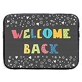 Bienvenido de Nuevo Coloridas Bolsas para portátiles compatibles con tabletas Netbook de 15 ″, maletín con Funda de Pringting Funda de Transporte con Funda para Bolso