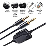 A10 A40 Replacement Cable Inline Mute Volume Control with Microphone for Astro A10/A40/A30/A50 Headsets Cord Lead Compatible with Xbox One Play Station 4 PS4 Headphone Audio Extension Cable 6.5 Feet