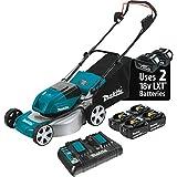Makita XML03PT1 36V (18V X2) LXT Brushless 18' Lawn Mower Kit with 4 Batteries (5.0Ah)