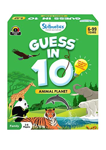 Skillmatics Card Game : Guess in 10 Animal Planet for Ages 6...