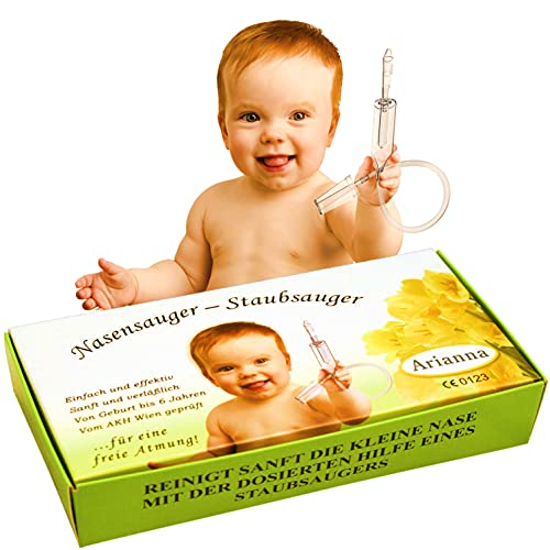 Baby Vac. Aspiratore nasale per bambini. L'originale. Con 2 testine di aspirazione e spazzola per la pulizia inclusa. Aspiratore nasale clinicamente testato. Sicuro e delicato pu essere utilizzato