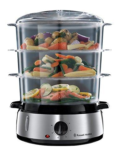 Russell Hobbs Cook@Home - Vaporera (800 W, Cocina Lenta, Sin BPA,...