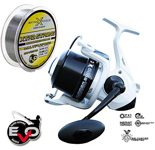 EVO_Fishing Mulinello Hummer 8000 Evo Big Pit Surf 8 BB + Filo Evo