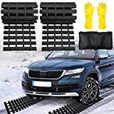 EVTIME Emergency Devices 2 pcs Tire TractionMats 39.3' (L) x 10.8' (W), Portablefor Snow, Ice, Mud, and SandUsed to Car, Truck, Van or Fleet Vehicle(2PCS 39in)