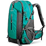 OutdoorMaster Hiking Backpack 45L - w/Waterproof Cover - Light Green