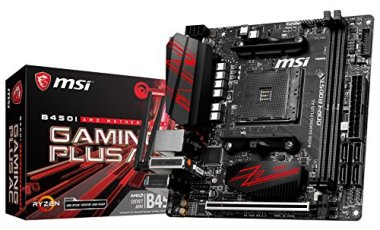 MSI Performance Gaming AMD Ryzen 1st and 2nd Gen AM4 M.2 USB 3 DDR4 HDMI Display Port Mini-ITX Motherboard (B450I GAMING Plus AC)