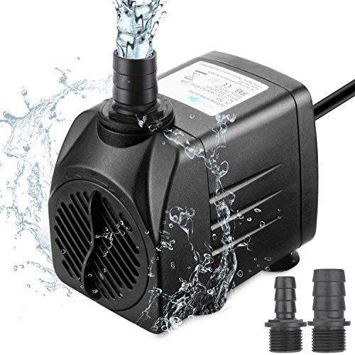 Zaeel Mini Bomba de Agua, Bomba de Agua Sumergible con 3 Boquillas...
