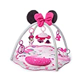 Bright Starts Disney Baby Minnie Mouse Garden Fun Activity Gym Play Mat with Melodies, Ages Newborn +